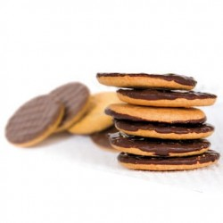 Biscuits enrobés de chocolat