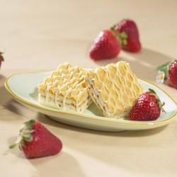 gaufrette fraise x 2